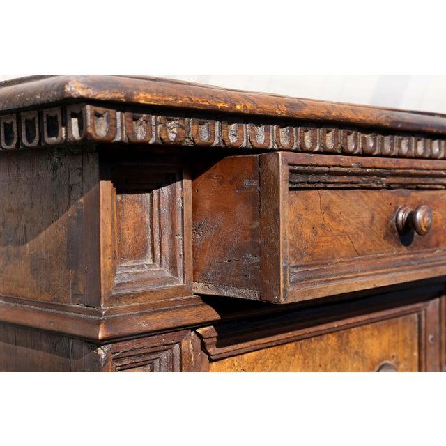 Walnut Italian Baroque Walnut Cabinet For Sale - Image 7 of 13