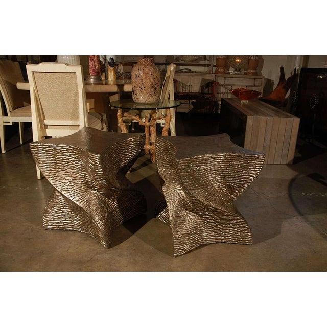 2010s Modern Paul Marra Twist Side Table For Sale - Image 5 of 9