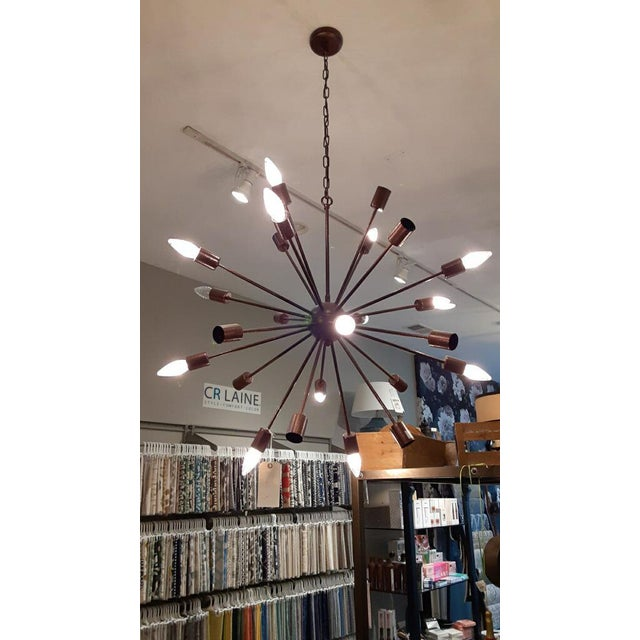 Mid-Century Modern Alanya Large Chandelier from Kenneth Ludwig Chicago For Sale - Image 3 of 6