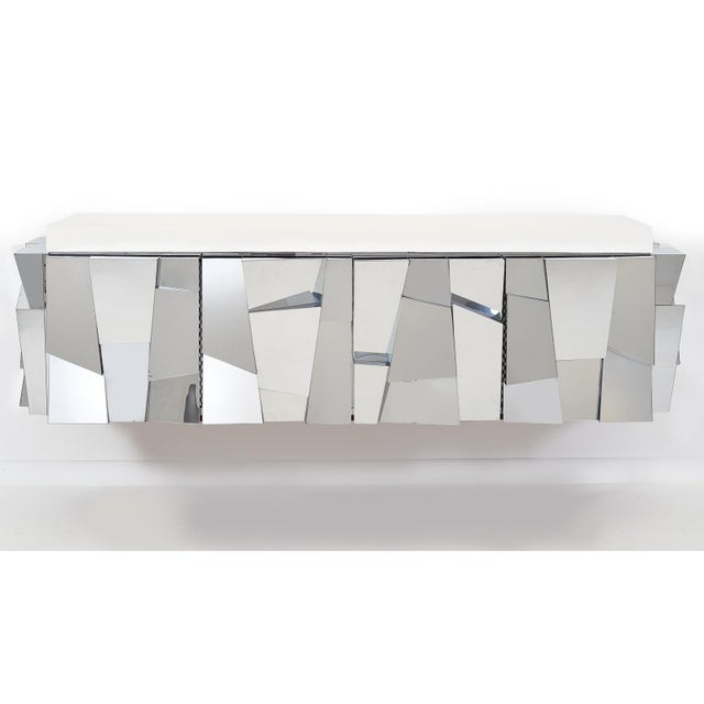 Mid-Century Modern Paul Evans Cityscape ii Faceted Console, model PE370, 1973 For Sale - Image 3 of 8