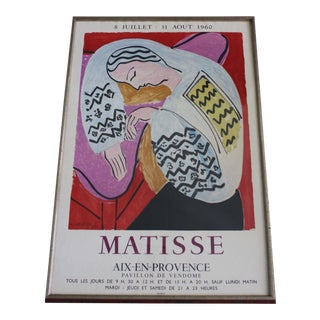 Henri Matisse Exhibition Poster ''Matisse Aix-En-Provence'', 1960 by Mourlot For Sale