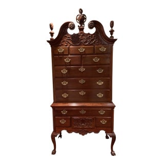 Mahogany Highboy Chest of Drawers For Sale