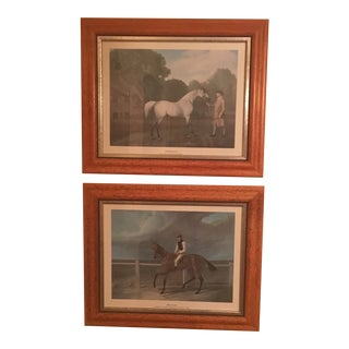 Chelsea House Framed Horse Prints - a Pair For Sale