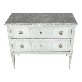 19th Century French Painted Chests of Drawers Commode For Sale