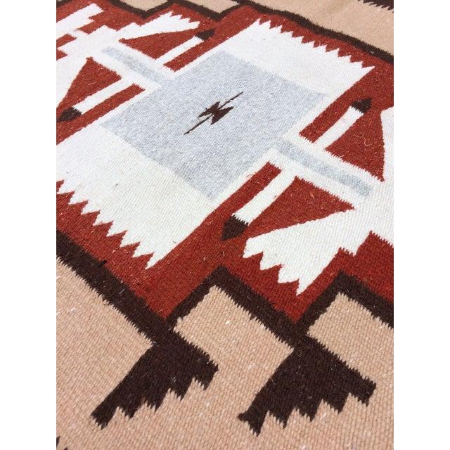Handwoven Vintage Wool Navajo Rug - 2′7″ × 4′10″ - Image 3 of 4
