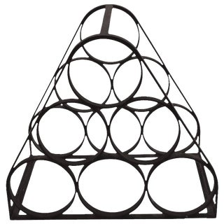 1950s Six Bottle Iron Wine Rack After Arthur Umanoff For Sale