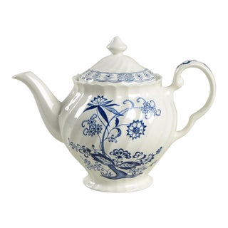 Johnson Brothers Blue Nordic Teapot & Lid For Sale