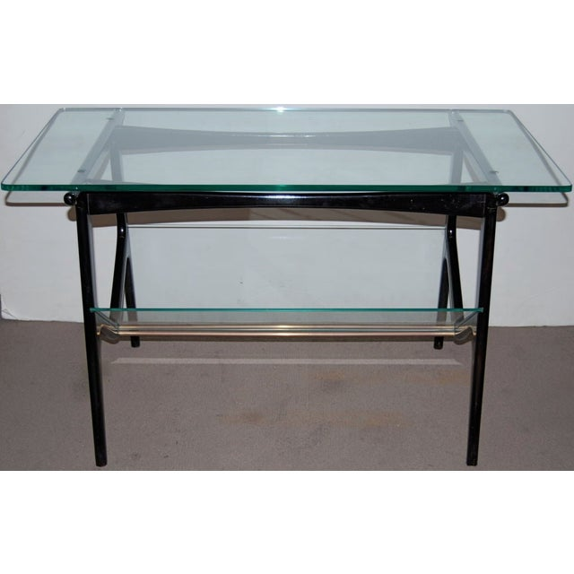 Mid-Century Modern Cesare Lacca Sculptural Glass Table For Sale - Image 3 of 4