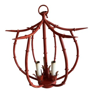 Pagoda Style Ceiling Light Fixture For Sale