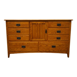 Universal Furniture Sonoma Collection Mission Style Triple Door Dresser For Sale