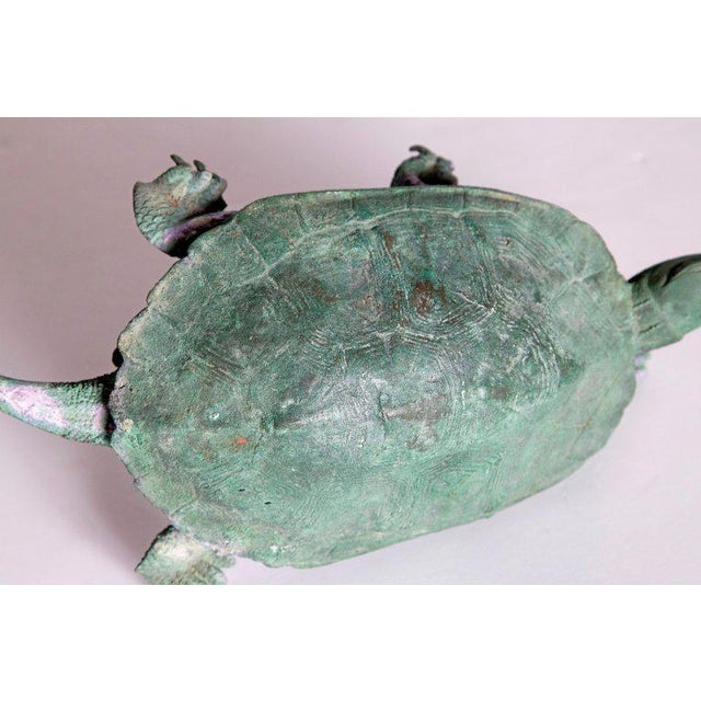 Late 19th Century Japanese Bronze Tortoise, Meiji Period For Sale - Image 9 of 13