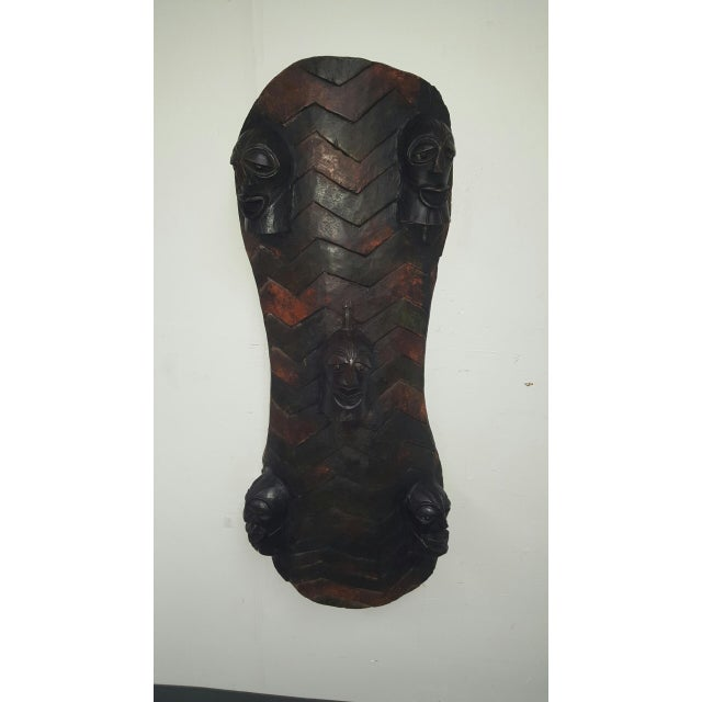 Hand Crafted African Wooden Shield - Image 2 of 9