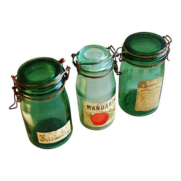 Early French Preserve Canning Jars - Set of 3 - Image 3 of 6