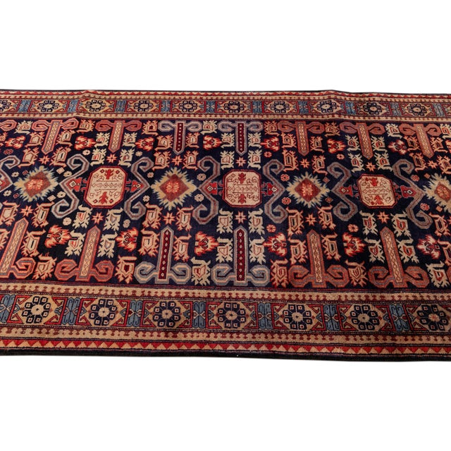 """Textile Vintage North West Persian Rug, 4'7"""" X 10'1"""" For Sale - Image 7 of 9"""