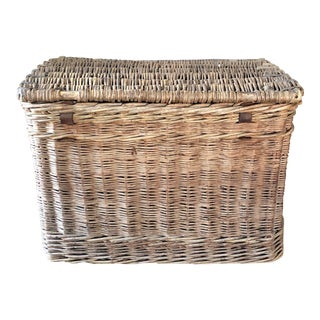 English Willow Hide Trunk For Sale