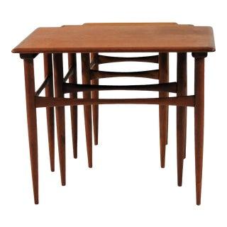 1960s Danish Teak Nesting Tables - Set of 3 For Sale