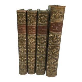 Henry Merriman Leather Books - Set of Four For Sale