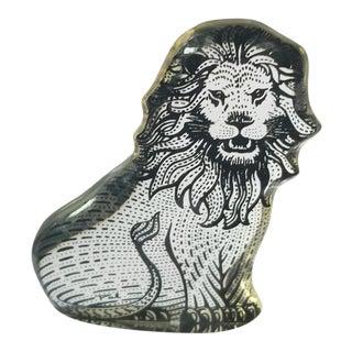 1970s Signed Abraham Palatnik Lucite Lion Figure For Sale