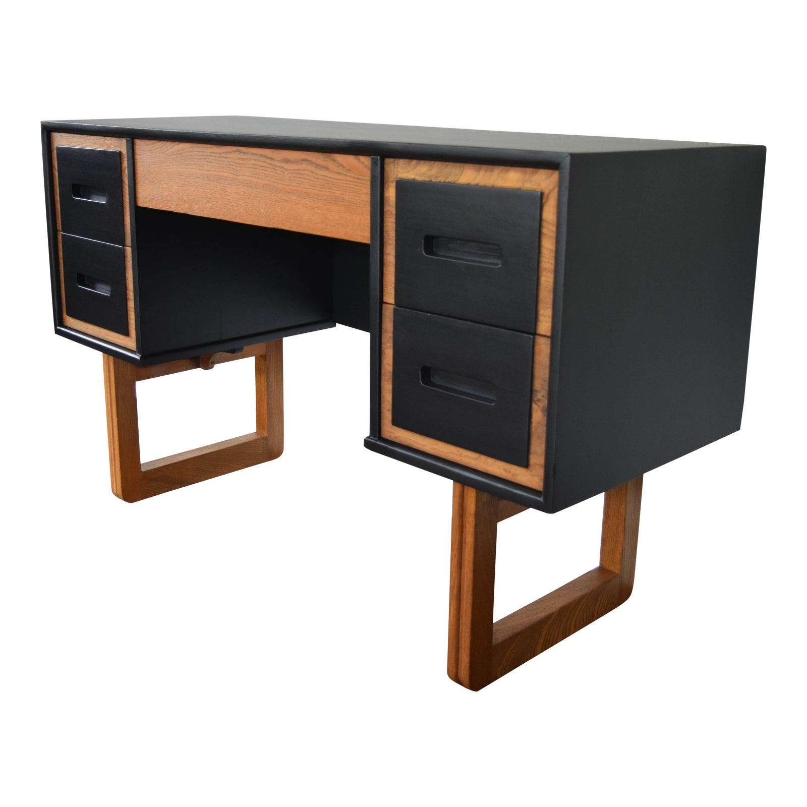 Mid Century Modern Black Desk Chairish