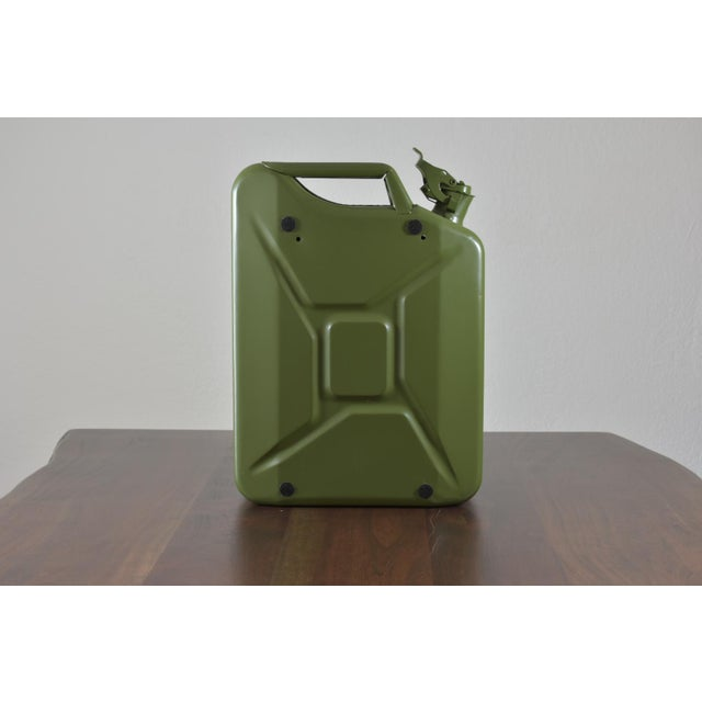 Danish Fuel Army Green Bar Cabinet For Sale - Image 4 of 10