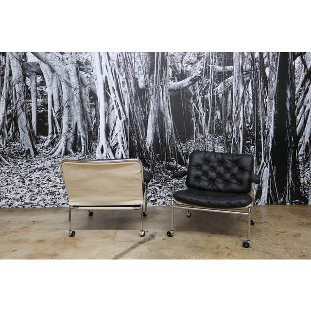 Bruno Mathsson Style Easy Chairs - a Pair - Image 5 of 5