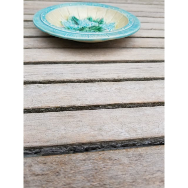 Ceramic French Majolica Small Plates - a Pair For Sale - Image 7 of 10