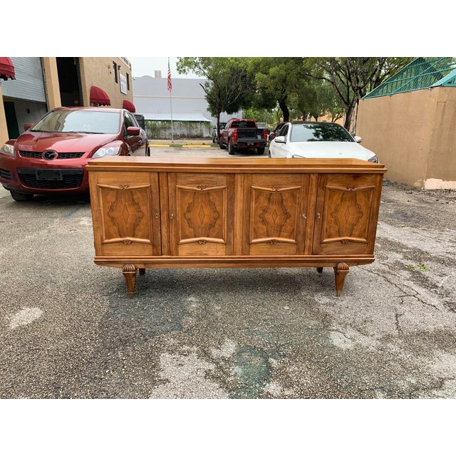 1940s French Solid Walnut Sideboard For Sale - Image 13 of 13