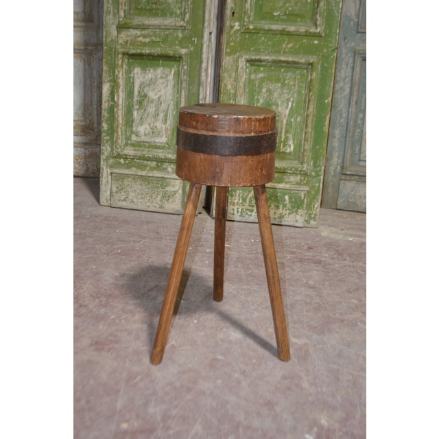 1900's French Butcher Block For Sale In Dallas - Image 6 of 6
