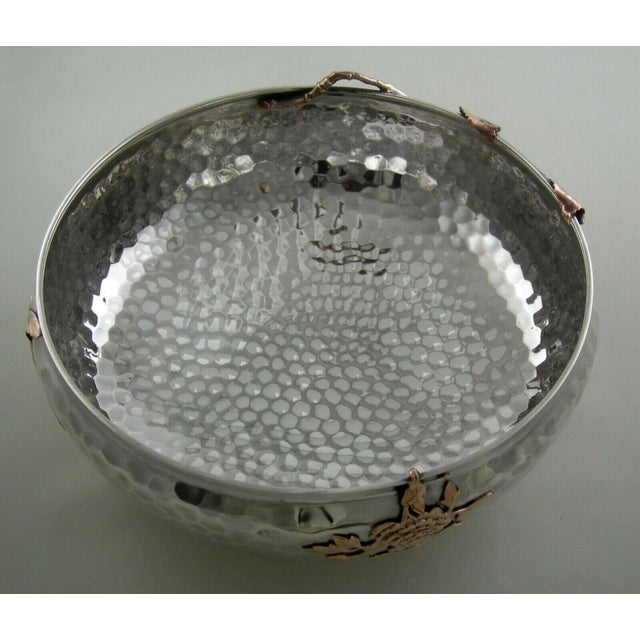 Sterling Gorham Mixed Metal Footed Bowl For Sale In New York - Image 6 of 8