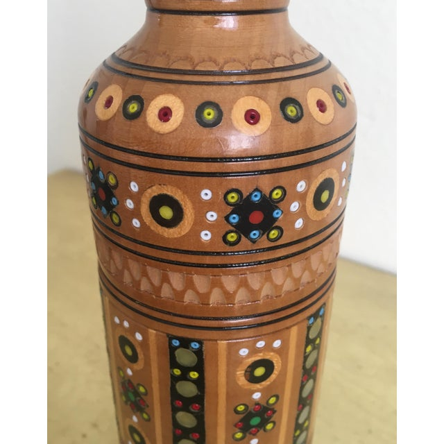 Bohemian Handmade Gypsy Wooden Bottle - Image 5 of 6