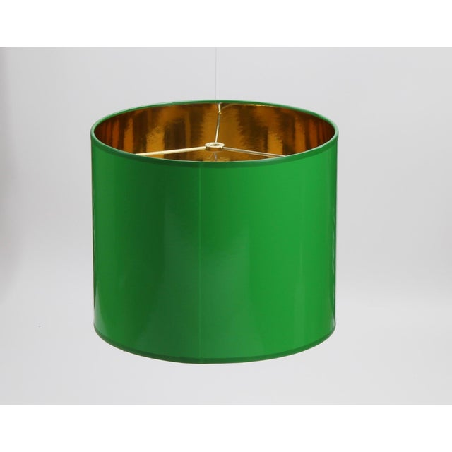 High Gloss Drum Lamp Shade Made To Order: 1-2 week lead time Individually hand-made Exterior Color: Green (Pantone 347...