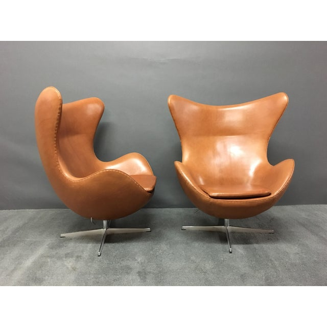 Arne Jacobsen for Fritz Hansen Egg Chairs - A Pair - Image 2 of 9