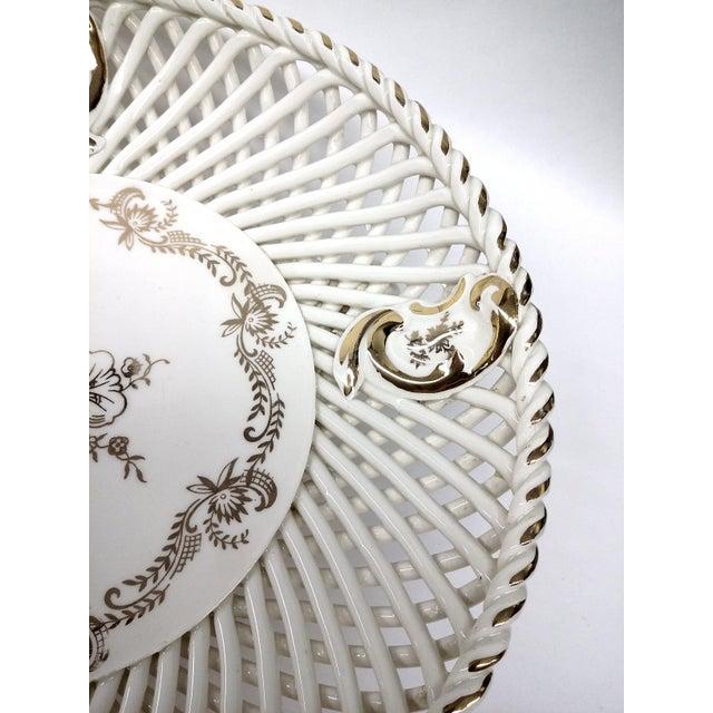 Spanish Lattice Weave Ceramic Dish - Image 7 of 11