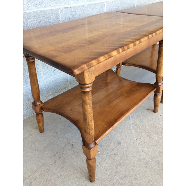 Cushman Colonial Maple End Tables - A Pair For Sale - Image 9 of 10