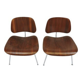 Early First Edition Eames Walnut Lcm Chair for Evans - a Pair For Sale