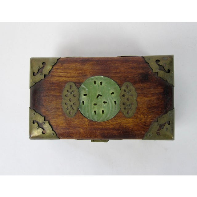 Antique Chinese Jewelry Boxes With Jade - Set of 3 For Sale - Image 9 of 9