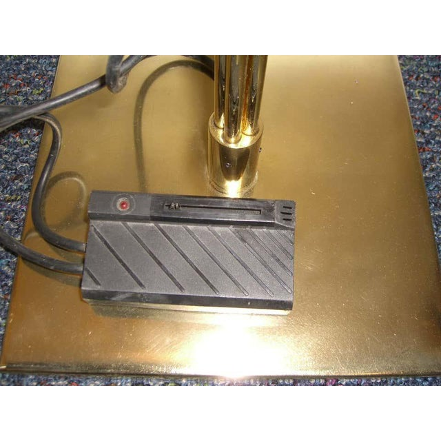 Relux of Milan Italy Brass Halogen Torchiere For Sale In West Palm - Image 6 of 9