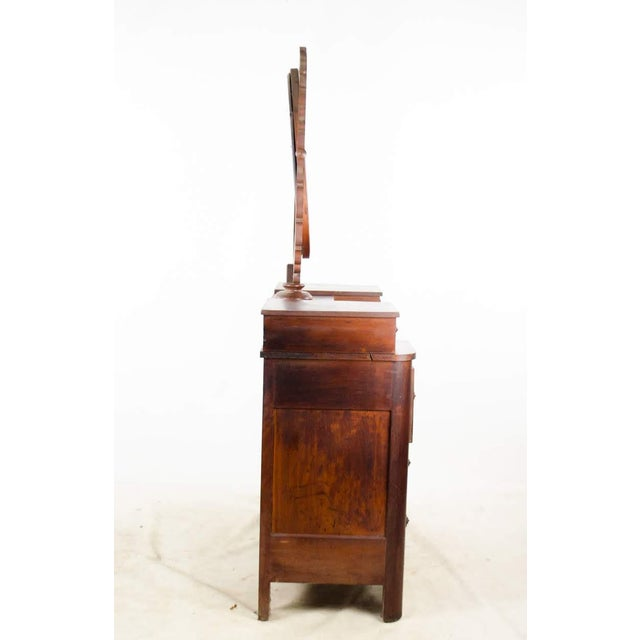 19th Century Victorian Drop Well Marble Top Dresser For Sale - Image 11 of 13