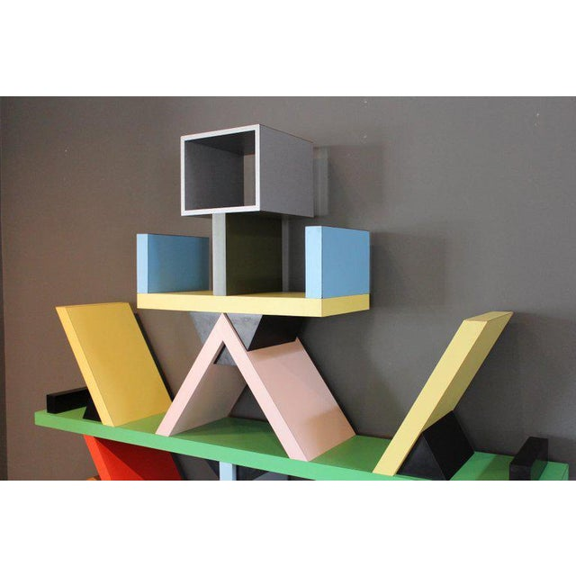 Early Carlton Bookcase Roomdivider by Ettore Sottsass for Memphis, 1981 For Sale - Image 9 of 10