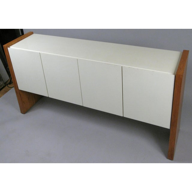 Mid-Century Modern Vintage Milo Baughman for Thayer Coggin Walnut & Lacquered Cabinet For Sale - Image 3 of 10
