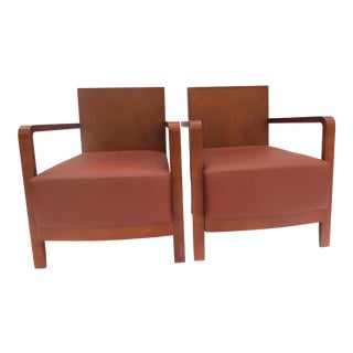 """1980s Spanish Company """"Andreu World"""" Side Chairs- a Pair For Sale"""