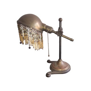 Vintage used victorian table lamps chairish art nouveau victorian beaded bronze table lamp aloadofball Choice Image