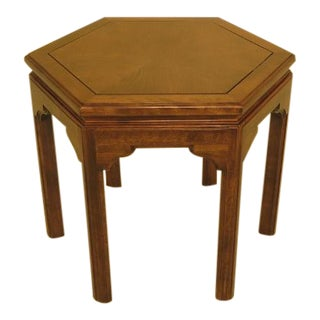 Ethan Allen Maple Hexagon Occasional Table