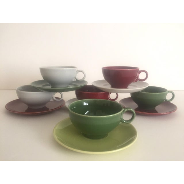 Mid Century Modern Universal Ballerina Multicolor Dinnerware - Set of 32 For Sale In New York - Image 6 of 11