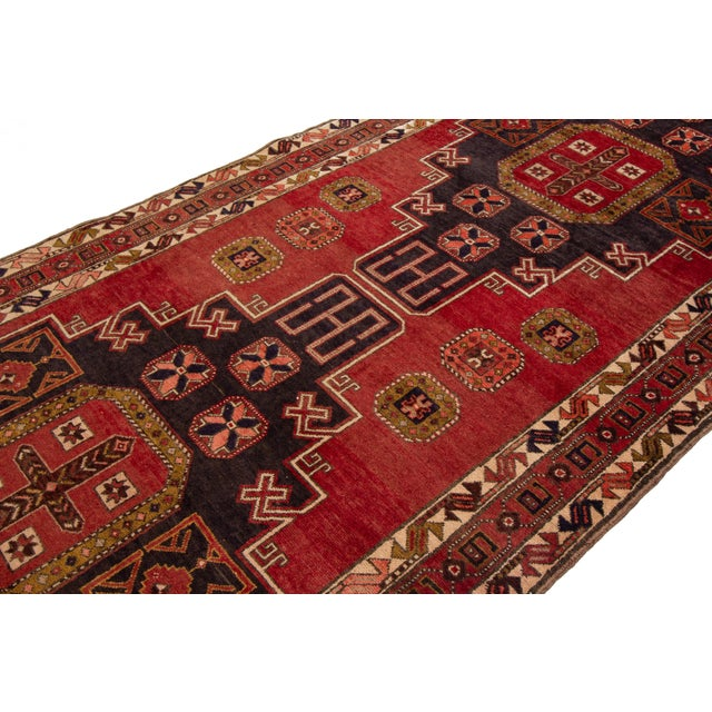"""Apadana - Vintage North West Persian Rug, 4'7"""" X 11'3"""" For Sale In New York - Image 6 of 9"""