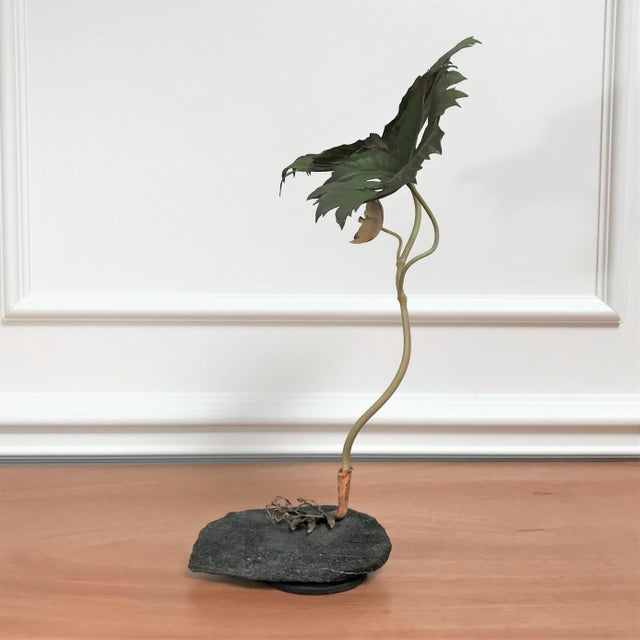 1970s 1970s Vintage Botanical Still Life Painted Metal & Stone Model by Robert Meier For Sale - Image 5 of 9