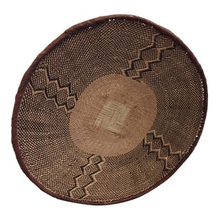 Handmade Oversized African Basket or Wallhanging