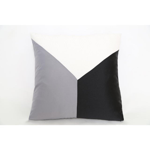 Gray Cubic Design Decorative Pillow - Image 2 of 3