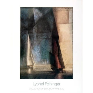 "Lyonel Feininger Stiller Tag Am Meer Ill 35.5"" X 27.5"" Poster 1985 Expressionism Gray, Brown For Sale"