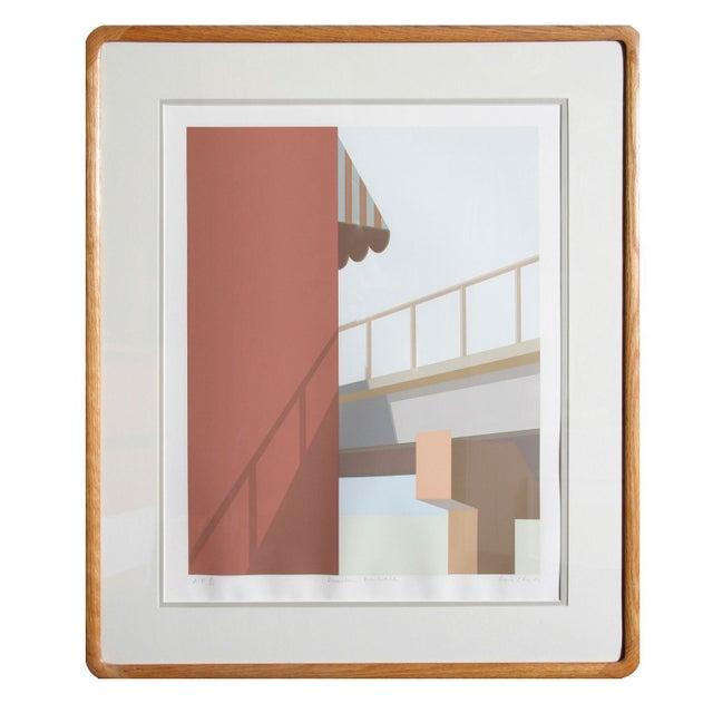 Framed Serigraph December Boardwalk by Saul Chase - Image 1 of 3